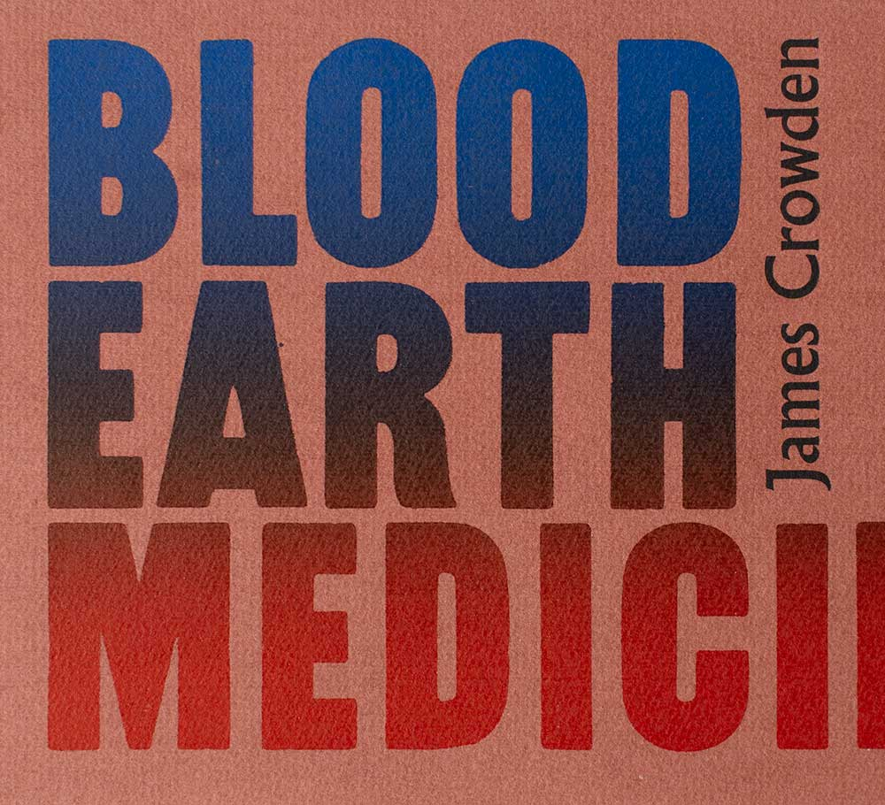 Blood Earth and Medicine type cover