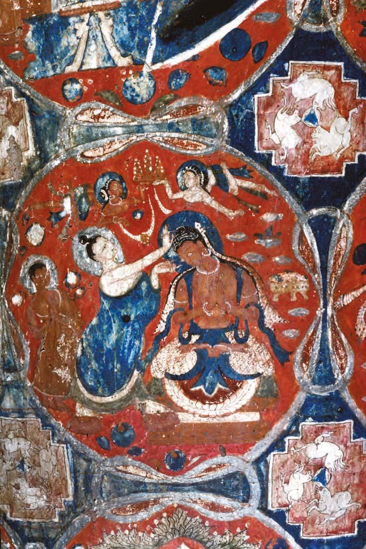 Detail of Maitreya's dhoti