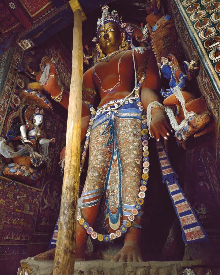 Statue of Maitreya, Sumtsek temple