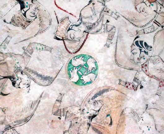 Four hares and Asparas, Hadi Rani Mahal Loggia