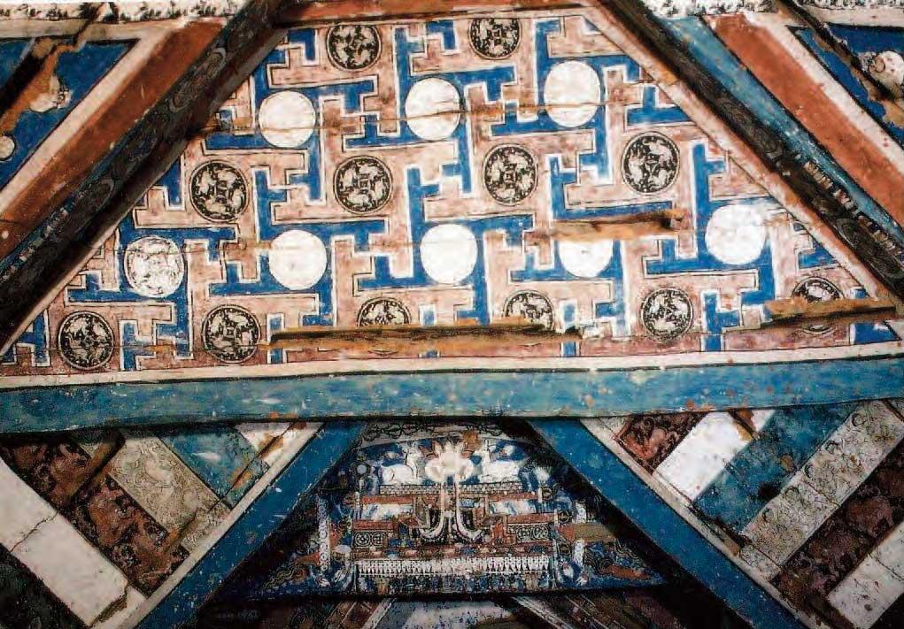 Inside the Great Stupa at Alchi